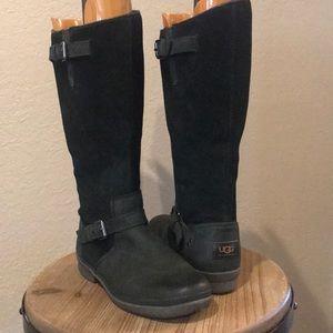 UGG Thomsen Waterproof Leather Black 8 Boots
